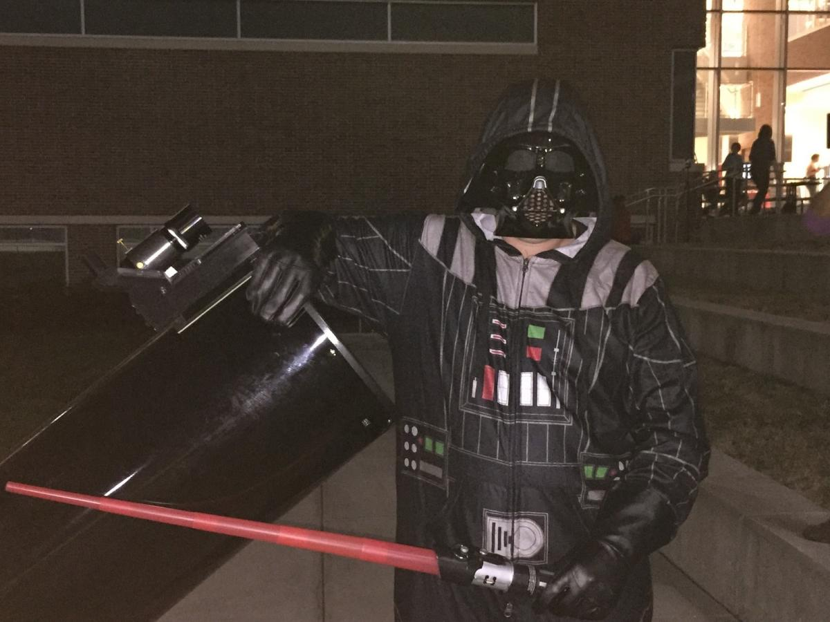 Lab Manager Darth Vader runs the telescopes