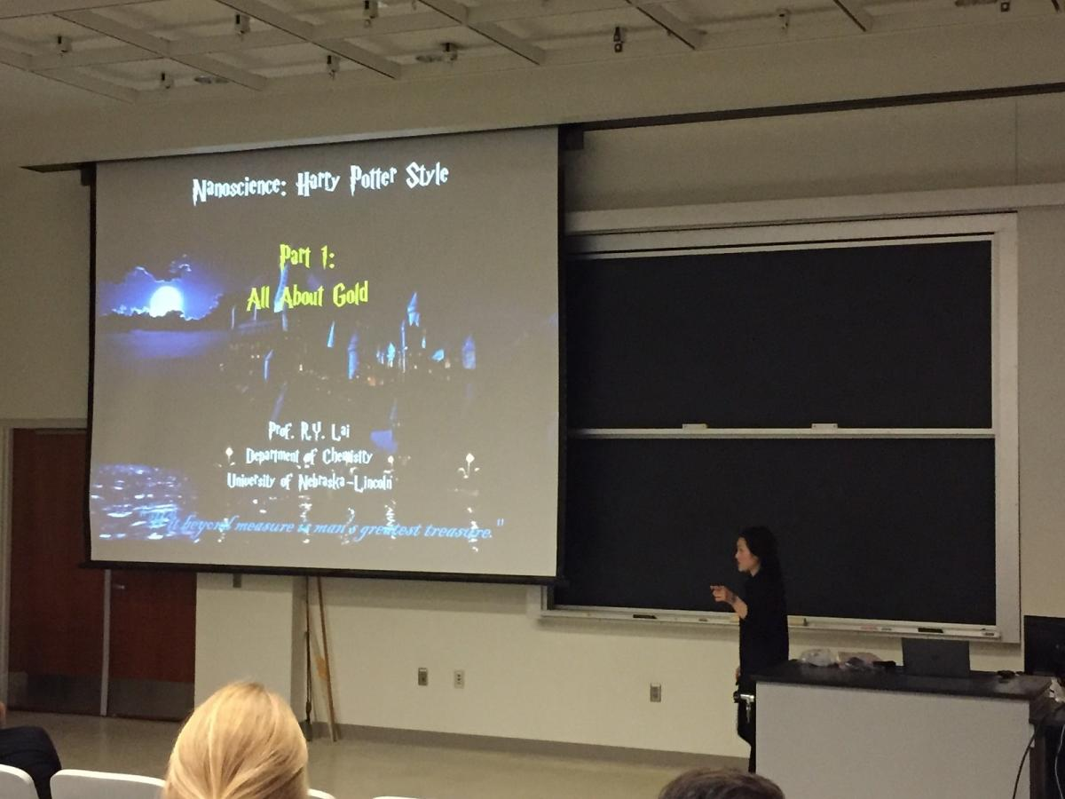 Rebecca Lai gives chemistry of Harry Potter talk